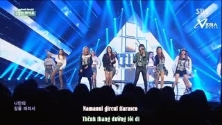 Cut It Out - Crazy (Inkigayo 15.02.15) (Vietsub) - 4Minute