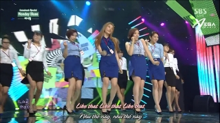 Monday Blues (Inkigayo 24.08.14) (Vietsub) - Sunny Hill