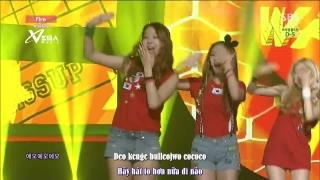 Fire (Inkigayo 08.06.14) (Vietsub) - Wa$$up