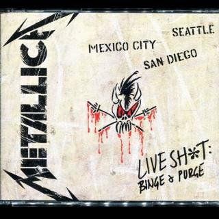 Live Shit Binge & Purge CD1 - USA Elektra - Metallica